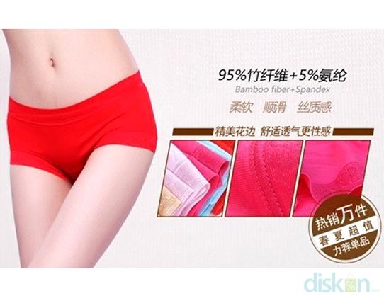 Seamless Underwear Bamboo Fiber Tunjang Penampilanmu Dengan Seamless Underwear Bamboo Fiber Hanya Dengan Rp 25000